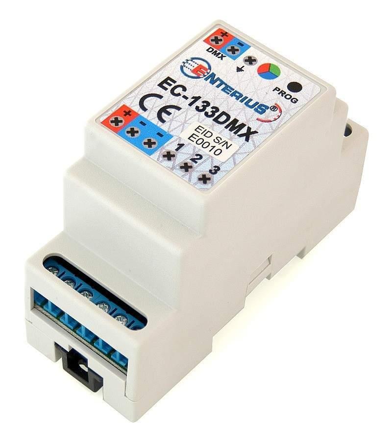 EC-133DMX - Sterownik LED DMX RGB lub 3 kanałowy ściemniacz LED DMX