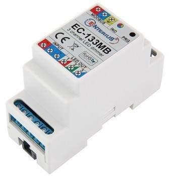 EC-133MB Sterownik LED RGB lub 3 kanałowy ściemniacz LED dla magistrali Modbus