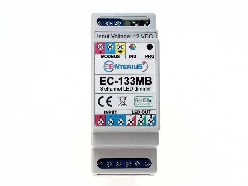 EC-133MB Sterownik/ściemniacz LED Modbus do taśm LED