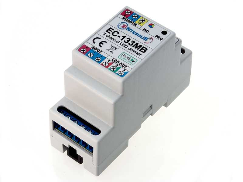 EC-133MB sterownik RGB Modbus (może pracować jako 3 kanałowy ściemniacz LED)