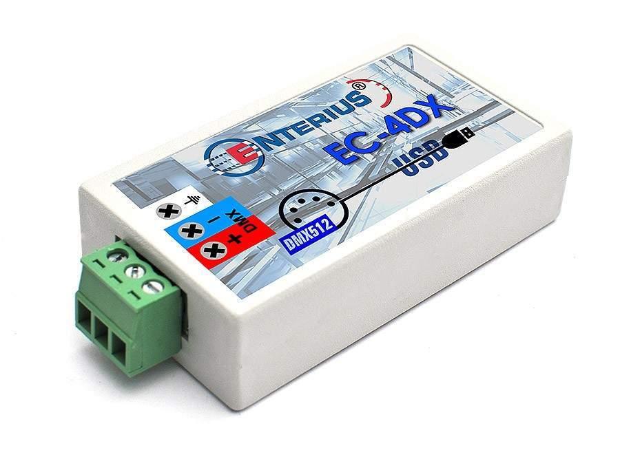 EC-4DX - Konwerter USB DMX pozwalający na sterowanie oświetleniem LED z komputera, tabletu lub telefonu