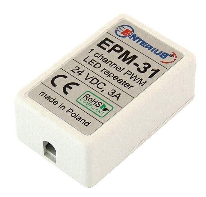 EPM-31 Miniaturowy wzmacniacz LED mono (jednokanałowy) 24V, 3A