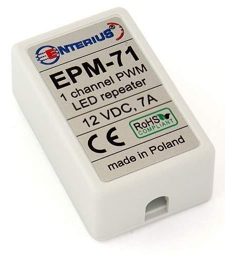 Miniaturowy wzmacniacz LED mono (jednokanałowy) 12V, 7 A
