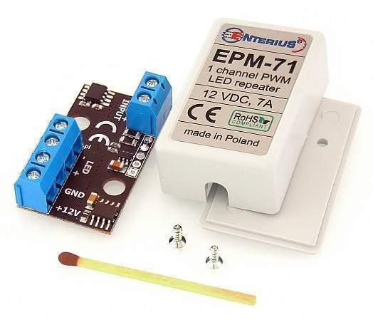 EPM-71 Miniaturowy wzmacniacz LED mono (jednokanałowy) 12V, 7A