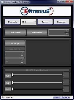 Aplikacja Enterius do konfiguracji sterowników Modbus