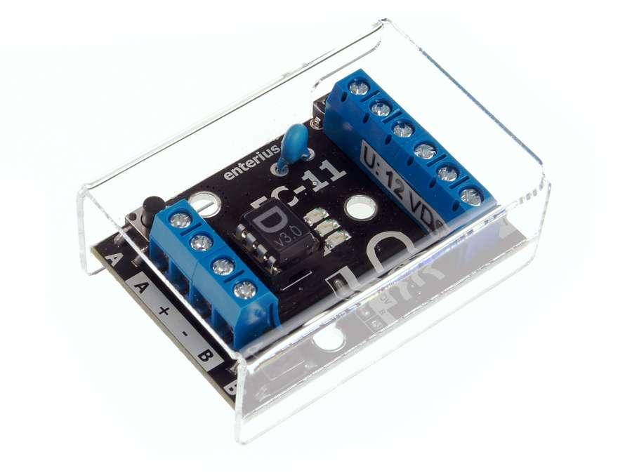 Sterownik LED RGB EC-11D - widok z góry
