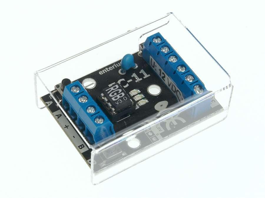 Sterownik LED RGB EC-11RGB - widok z przodu