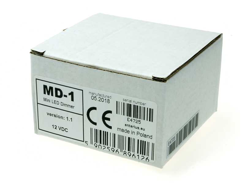 Opakowanie ściemniacza LED MD-1